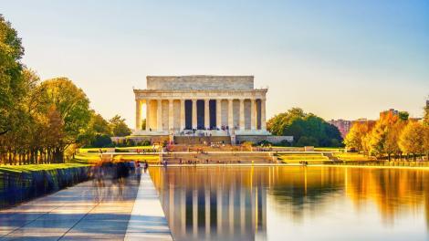 华盛顿哥伦比亚特区国家广场上的林肯纪念堂