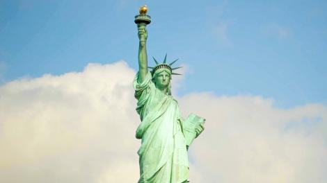 纽约市的标志,自由女神像