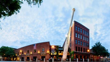肯塔基州路易维尔斯拉格棒球博物馆及工厂外部