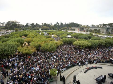 加利福尼亚州旧金山金门公园内的 Outside Lands Music Festival 音乐节