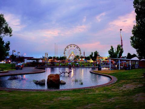 蒙大拿州博览会的日落风光