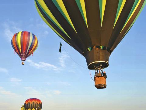 在热气球节飞上云霄
