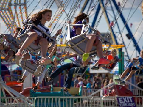 伊利诺伊州博览会上的空中飞椅