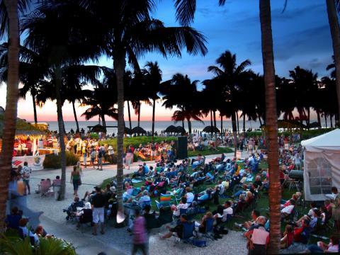 佛罗里达州那不勒斯的海湾地区夏日爵士派对系列音乐