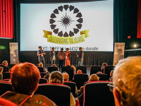 双城电影节的舞台问答环节